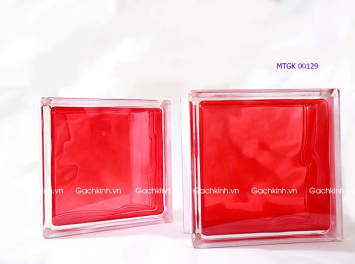 Gạch kính Indonesia vân mây màu đỏ tươi MTGK 00129