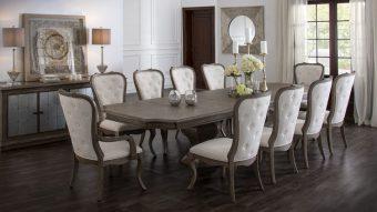 Những mẫu bàn ăn đẹp 10 ghế thanh lịch và nền nã