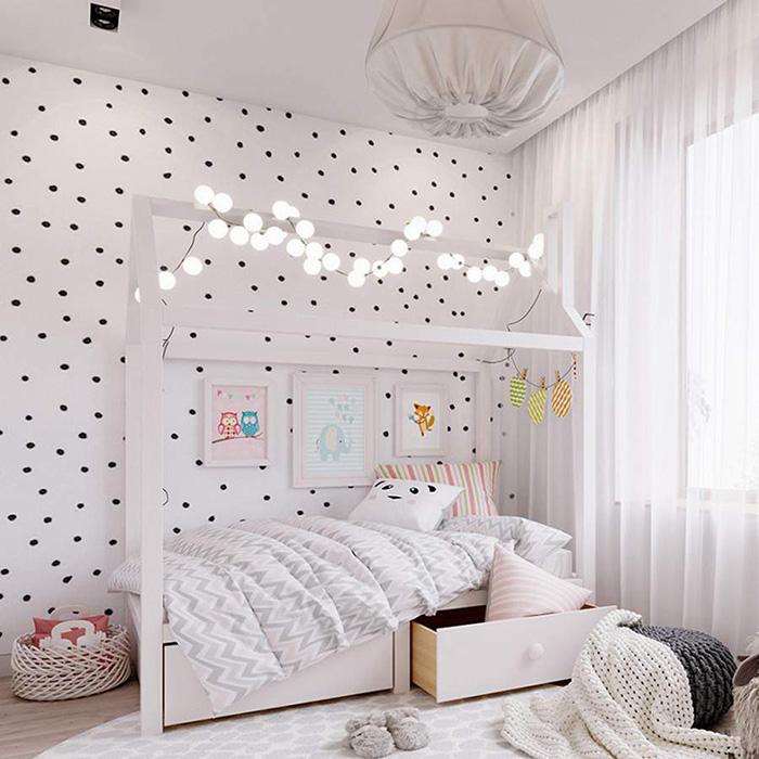 Trang trí phòng ngủ bằng giấy dán tường