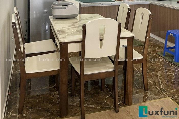 Bàn ăn mặt đá 6 ghế A10