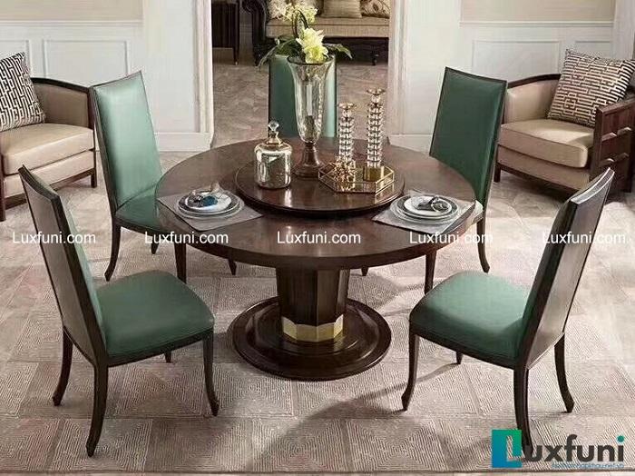 Bộ bàn ghế ăn đẹp bằng gỗ gụ
