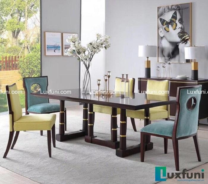 Bộ bàn ghế ăn đẹp tân cổ điển