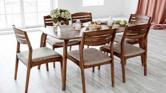 Top 10+ bàn ăn gỗ công nghiệp nhỏ gọn cho căn hộ chung cư
