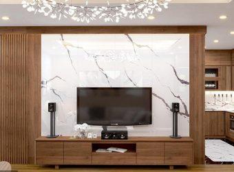 Đá vách ti vi – điểm nhấn hoàn hảo cho không gian phòng khách