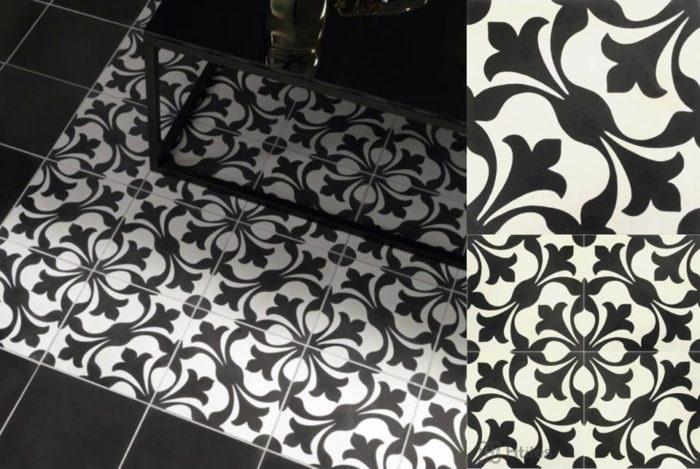 Gạch lát nền trắng đen