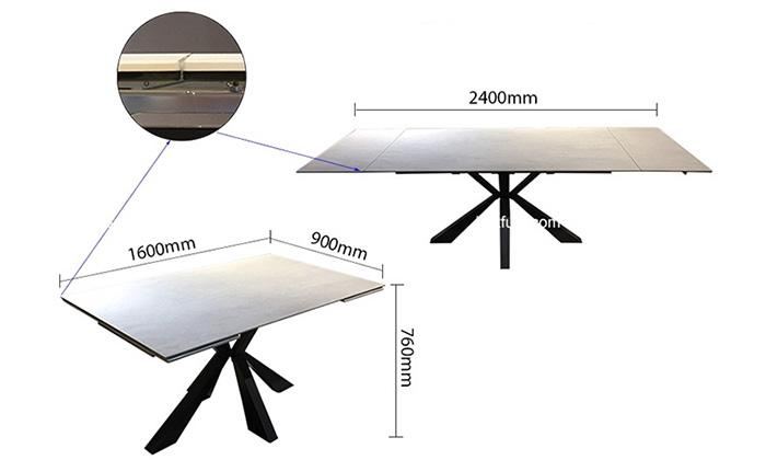 Chiếc bàn có thể thu gọn và mở rộng chiều dài linh hoạt