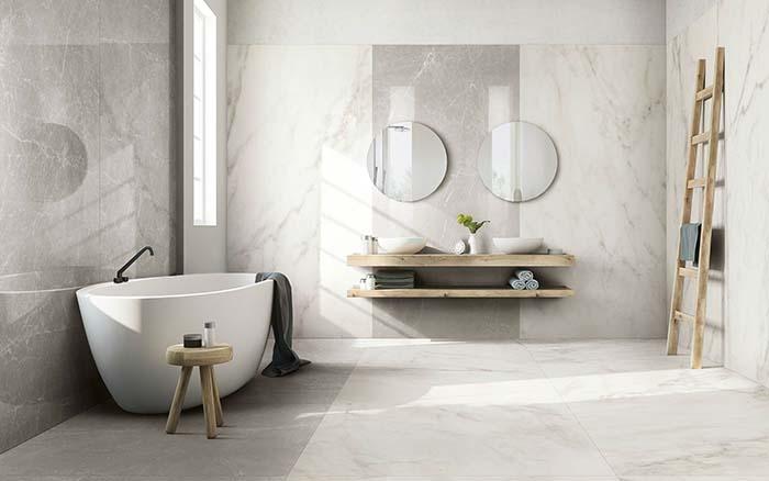 Gạch ốp phòng vệ sinh nên lựa chọn màu gạch sáng
