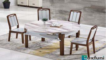 Tổng hợp bàn ăn thông minh mặt đá đáng mua cho gia đình bạn