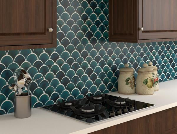Gạch mosaic trang trí phòng bếp